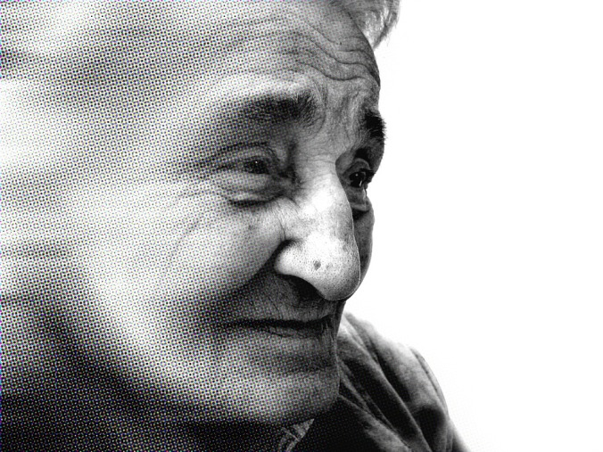 Alzheimer's Dementia Dependent Woman Old Age
